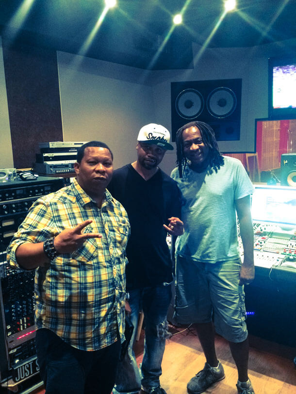 Jimmy Douglass In Studio With Manny Fresh & Juvenile,  Miami